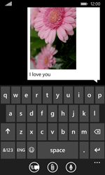 Nokia Lumia 530 - Mms - Sending a picture message - Step 12