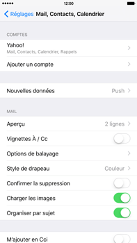 Apple iPhone 6 Plus iOS 9 - E-mail - Configuration manuelle (yahoo) - Étape 8