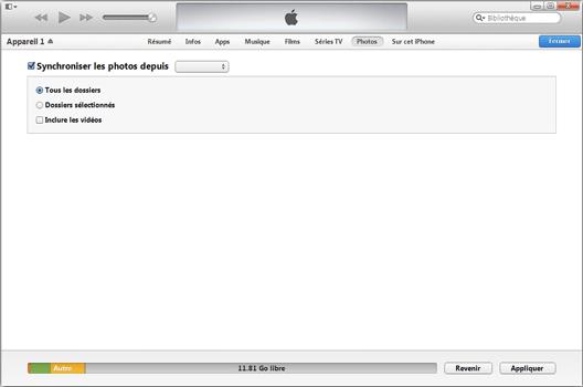 Apple iPhone XS - iOS 12 - Photos, vidéos, musique - Récupérer vos contenus multimédias avec un ordinateur - Étape 7
