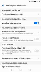 Huawei P10 Lite - Segurança - Como ativar o código PIN do cartão de telemóvel -  5