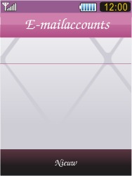 Samsung S7070 Diva - E-mail - handmatig instellen - Stap 7