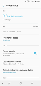 Samsung Galaxy J6 - Rede móvel - Como definir um aviso e limite de uso de dados - Etapa 6