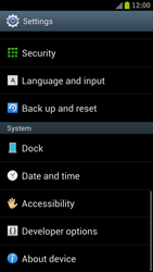 Samsung I9300 Galaxy S III - Device - Reset to factory settings - Step 5