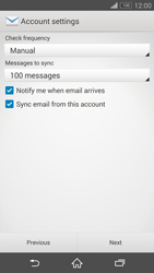 Sony D6603 Xperia Z3 - E-mail - Manual configuration - Step 16