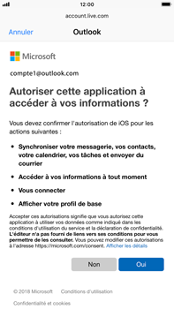 Apple iPhone 6s Plus - iOS 12 - E-mail - 032c. Email wizard - Outlook - Étape 8