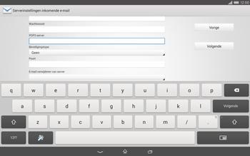 Sony Xperia Tablet Z2 (SGP521) - E-mail - e-mail instellen: POP3 - Stap 9