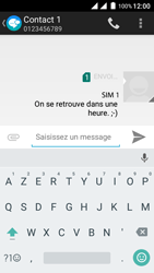 Wiko Freddy - Contact, Appels, SMS/MMS - Envoyer un SMS - Étape 10