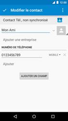 Motorola Moto E (1st Gen) (Lollipop) - Contact, Appels, SMS/MMS - Ajouter un contact - Étape 9