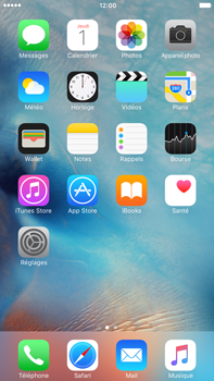 Apple iPhone 6 Plus iOS 9 - SMS - configuration manuelle - Étape 1