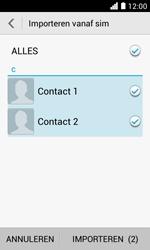 Huawei Ascend Y330 - Contacten en data - Contacten kopiëren van SIM naar toestel - Stap 7