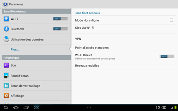 Samsung P5100 Galaxy Tab 2 10-1 - Internet - activer ou désactiver - Étape 5