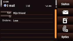 Nokia N97 Mini - E-mail - E-mails verzenden - Stap 9