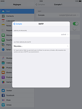 Apple iPad mini Retina iOS 10 - E-mail - Configuration manuelle - Étape 23