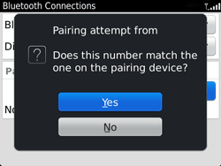 BlackBerry 9360 Curve - Bluetooth - Pair with another device - Step 10