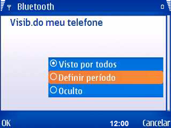 Nokia E5-00 - Bluetooth - Como ajustar configurações do Bluetooth - Etapa 7