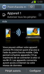 Samsung Galaxy Trend - Internet et connexion - Partager votre connexion en Wi-Fi - Étape 10