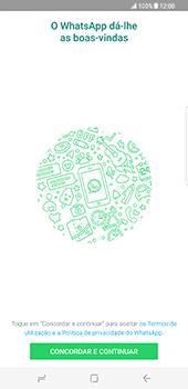 Samsung Galaxy S8 Plus - Aplicações - Como configurar o WhatsApp -  5