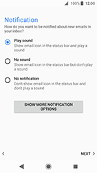 Sony Xperia XA2 - E-mail - Manual configuration IMAP without SMTP verification - Step 21