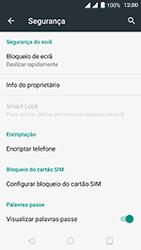 Wiko Fever 4G - Segurança - Como ativar o código de bloqueio do ecrã -  4