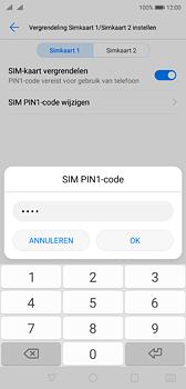 Huawei P20 Dual-SIM (Model EML-L29) - Beveiliging en ouderlijk toezicht - Hoe wijzig ik mijn SIM PIN-code - Stap 9