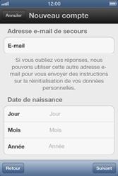 Apple iPhone 4 S - Applications - Créer un compte - Étape 10