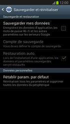 Samsung Galaxy Note 2 - Aller plus loin - Restaurer les paramètres d'usines - Étape 5
