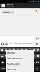 Wiko Stairway - Mensajería - Escribir y enviar un mensaje multimedia - Paso 10
