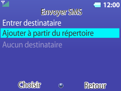 Bouygues Telecom Bc 311 - Contact, Appels, SMS/MMS - Envoyer un SMS - Étape 8