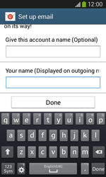 Samsung Galaxy Core Plus - Email - Manual configuration - Step 20