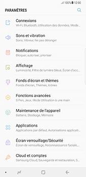 Samsung Galaxy Note 8 - Premiers pas - Configurer l