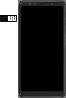 Samsung Galaxy A7 (2018) - Toestel - simkaart plaatsen - Stap 5