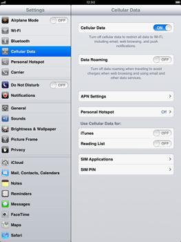 Apple iPad mini - Internet - Manual configuration - Step 5