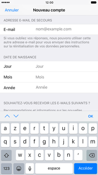 Apple Apple iPhone 6 Plus iOS 10 - Applications - Créer un compte - Étape 14