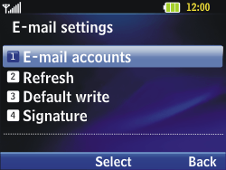 LG C320 InTouch Lady - Email - Manual configuration - Step 12