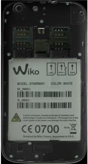 Wiko Stairway - Primeros pasos - Quitar y colocar la batería - Paso 3