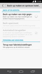 Huawei Ascend P6 (Model P6-U06) - Instellingen aanpassen - Fabrieksinstellingen terugzetten - Stap 5