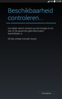 Samsung Galaxy Tab4 8.0 4G (SM-T335) - Applicaties - Account aanmaken - Stap 9