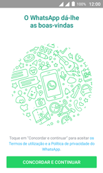 """Alcatel Pixi 4 (4"""") - Aplicações - Como configurar o WhatsApp -  5"""