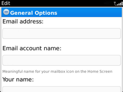 BlackBerry 9360 Curve - Email - Manual configuration - Step 10