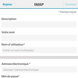 BlackBerry Classic - E-mail - Configuration manuelle - Étape 8