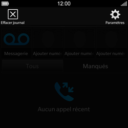 BlackBerry Q10 - Messagerie vocale - Configuration manuelle - Étape 5