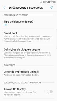 Samsung Galaxy S7 Edge - Android Oreo - Segurança - Como ativar o código de bloqueio do ecrã -  12