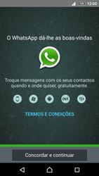 Sony Xperia Z3 Plus - Aplicações - Como configurar o WhatsApp -  5