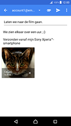 Sony Xperia XZ Premium (G8141) - E-mail - Bericht met attachment versturen - Stap 16