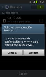 Samsung i8260 Galaxy Core - Bluetooth - Conectar dispositivos a través de Bluetooth - Paso 7