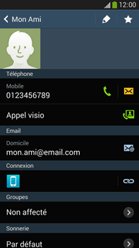 Samsung Galaxy Note 3 - Contact, Appels, SMS/MMS - Utiliser la visio - Étape 5