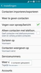 Samsung A300FU Galaxy A3 - Contacten en data - Contacten kopiëren van toestel naar SIM - Stap 12