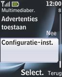 Nokia 2330 classic - MMS - automatisch instellen - Stap 12