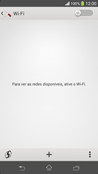 Sony C5303 Xperia SP - Wi-Fi - Como configurar uma rede wi fi - Etapa 5