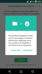 Sony Xperia X Dual SIM (F5122) - Aplicações - Como configurar o WhatsApp -  6